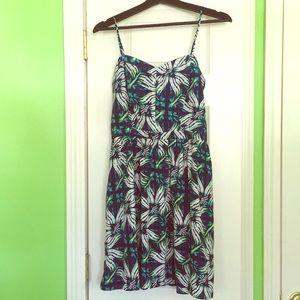 Blue/Green GAP Floral Print Summer Dress